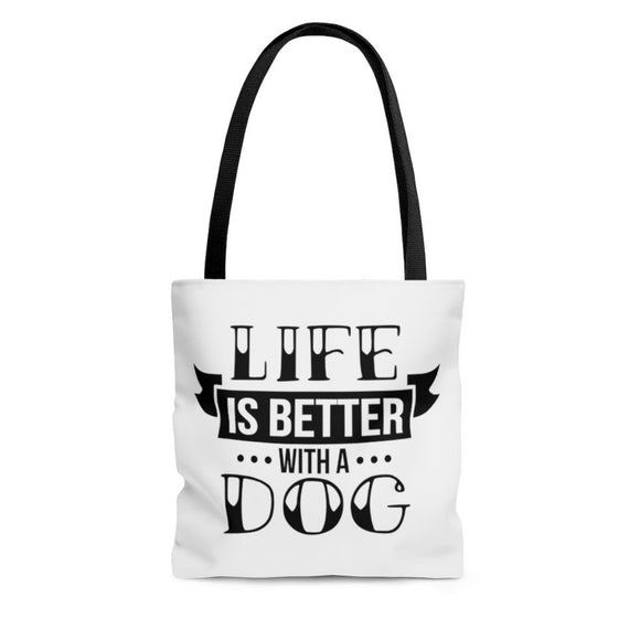 AOP Tote Bag- Life is better - Little Treasures LLC