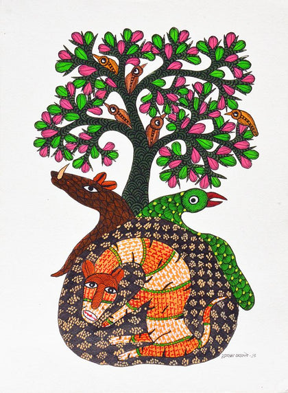 Dwarka Paresh-Traditional Art-Gond Painting-9
