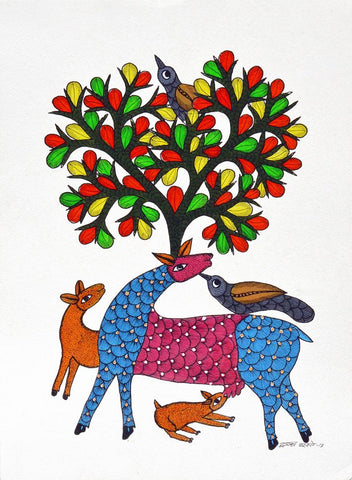 Dwarka Paresh-Traditional Art-Gond Painting-10