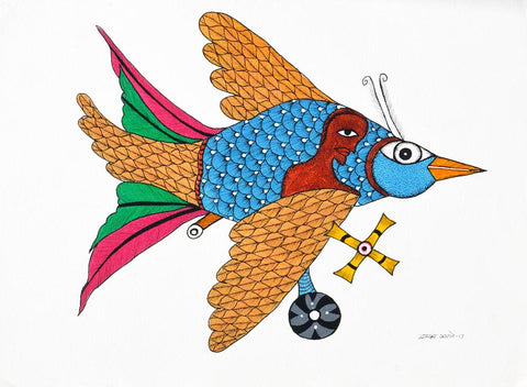 Dwarka Paresh-Traditional Art-Gond Painting-1