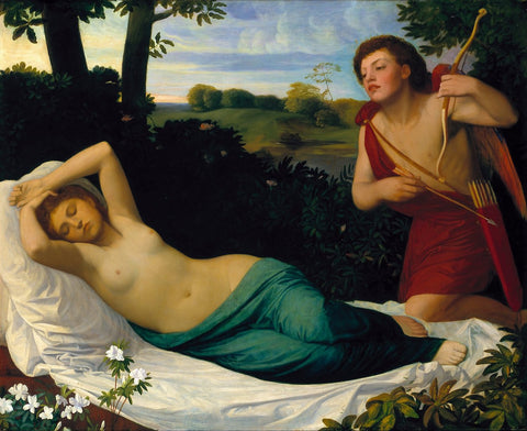 Alphonse Legros - Cupid and Psyche, Tate Britain