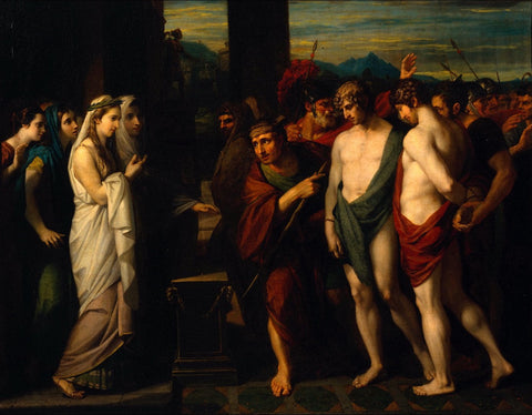 Benjamin West - Pylades and Orestes Brought as Victims before Iphigenia, Tate Britain