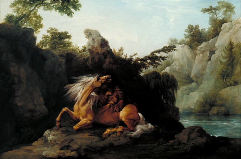 George Stubbs - Horse Devoured by a Lion, Tate Britain