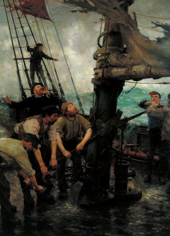 Henry Scott Tuke - All Hands to the Pumps, Tate Britain