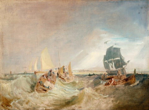 Joseph Mallord William Turner - Shipping at the Mouth of the Thames, Tate Britain