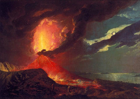 Joseph Wright of Derby - Vesuvius in Eruption, with a View over the Islands in the Bay of Naples, Tate Britain