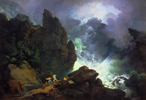 Phillip James De Loutherbourg - An Avalanche in the Alps, Tate Britain