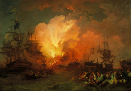 Phillip James De Loutherbourg - The Battle of the Nile, Tate Britain
