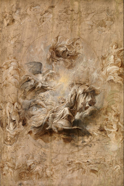 Sir Peter Paul Rubens - Multiple Sketch for the Banqueting House Ceiling, Tate Britain