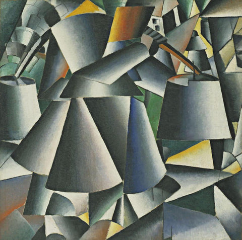 Kazimir Malevich - Woman with Pails Dynamic Arrangement