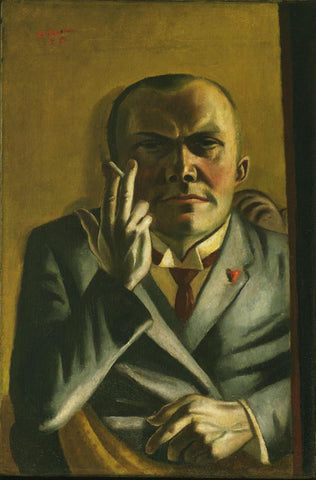 Max Beckmann - Self-Portrait with a Cigarette