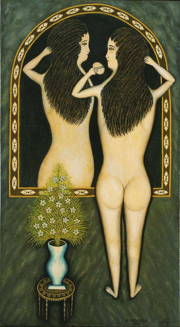 Morris Hirshfield - Girl in a Mirror