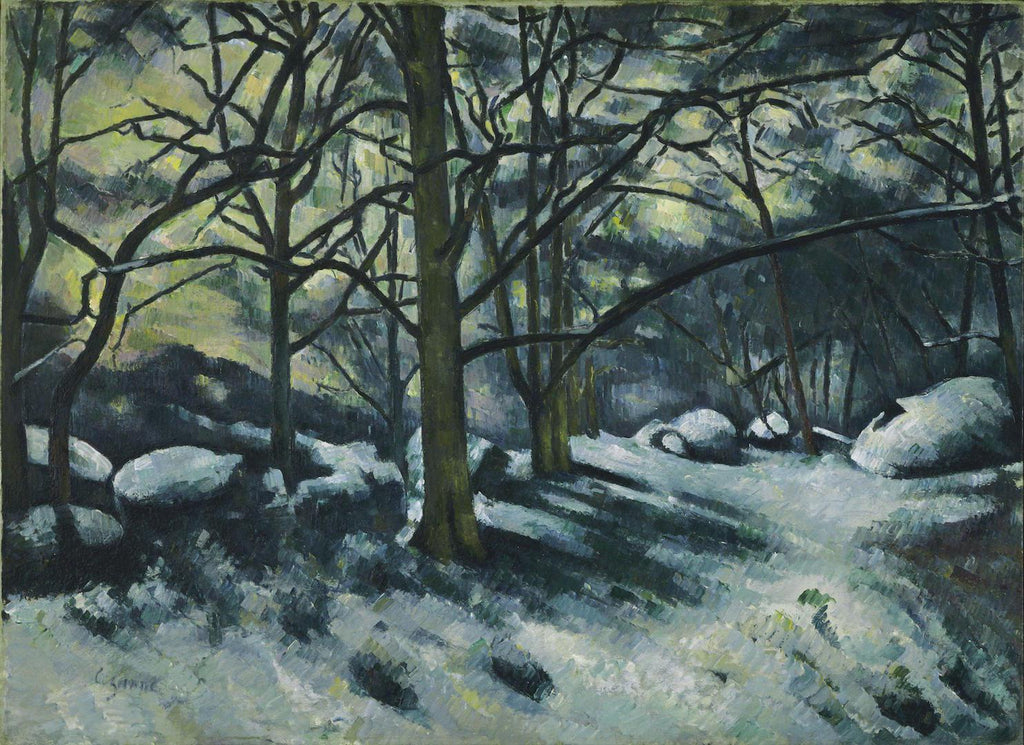 Paul Cézanne - Melting Snow, Fontainebleau