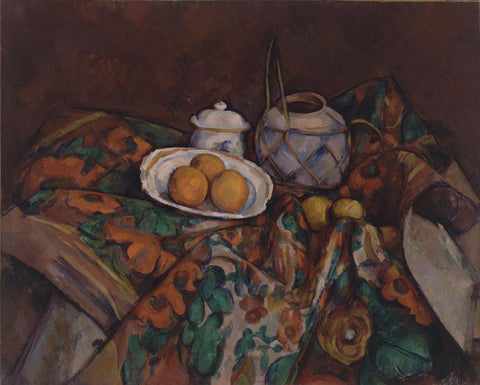 Paul Cézanne - Still Life with Ginger Jar, Sugar Bowl, and Oranges