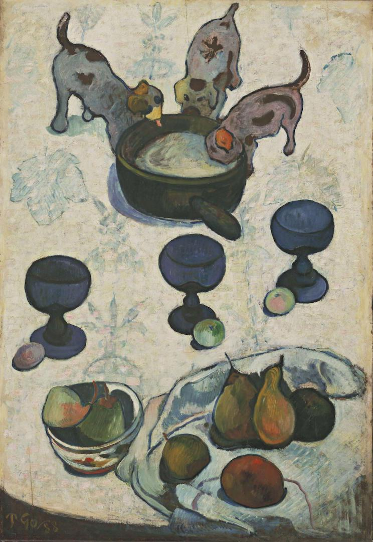 Paul Gauguin - Still Life with Three Puppies