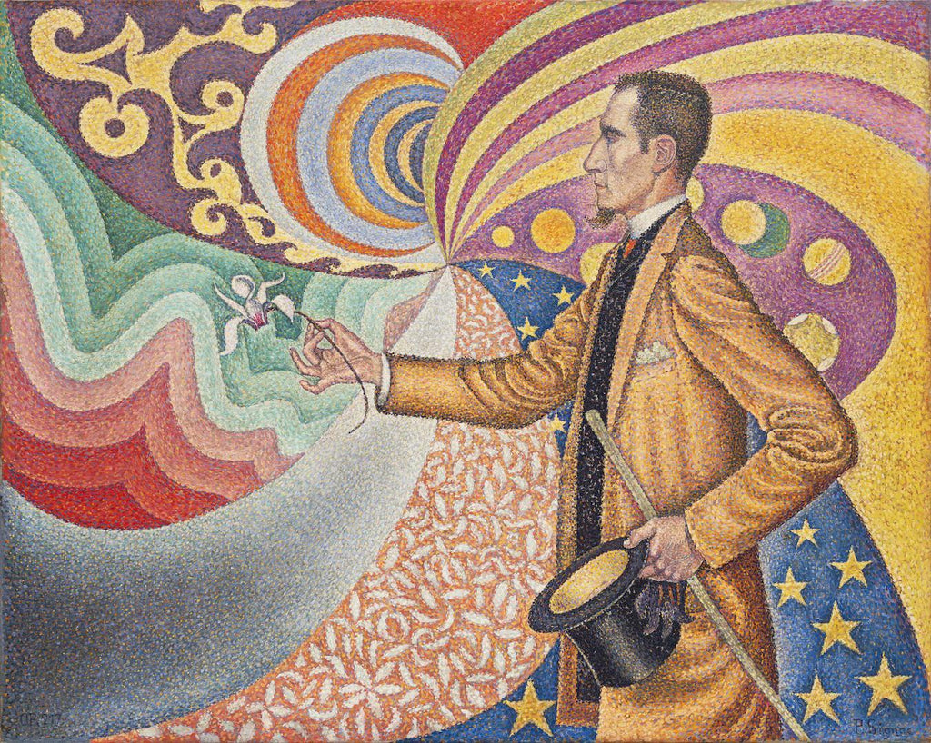 Paul Signac - Opus 217 Against the Enamel of a Background Rhythmic with Beats and Angles, Tones, and Tints, Portrait of M Félix Fénéon in 1890