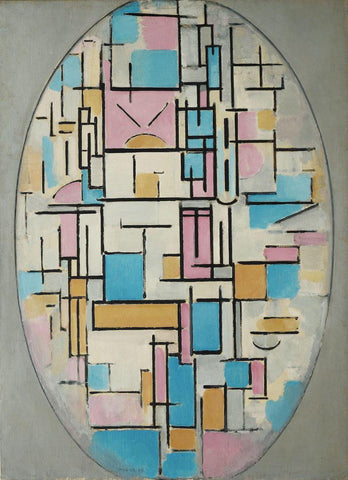 Piet Mondrian - Composition in Oval with Color Planes 1