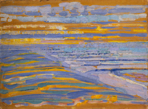 Piet Mondrian - View from the Dunes with Beach and Piers, Domburg