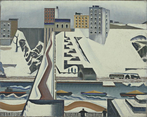 Preston Dickinson - Harlem River