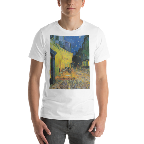 Cafe-Terrace-At-Night-Cotton-Art-Tee-For-Men