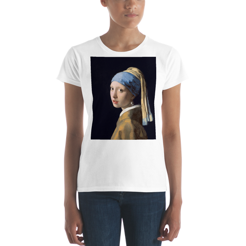 Girl-With-A-Pearl-Earring-Cotton-Art-Tee-For-Women