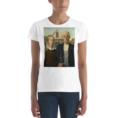 American-Gothic-Cotton-Art-Tee-For-Women