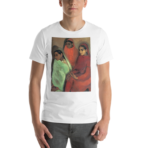 Three-Girls-Cotton-Art-Tee-For-Men