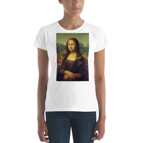 Monalisa-Cotton-Art-Tee-For-Women