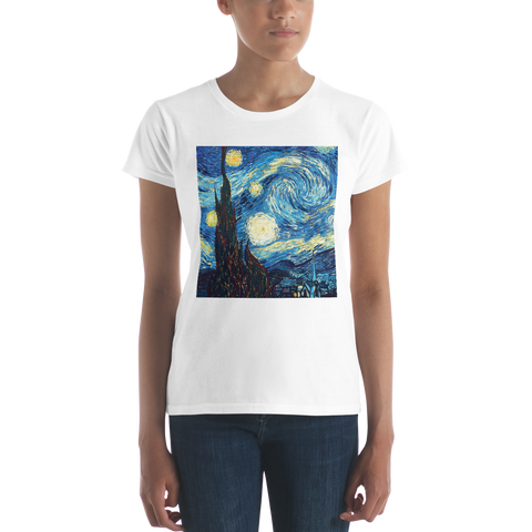 The-Starry-Night-Cotton-Art-Tee-For-Women