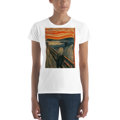 The-Scream-Cotton-Art-Tee-For-Women