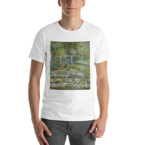 The-Water-Lily-Pond-Cotton-Art-Tee-For-Men