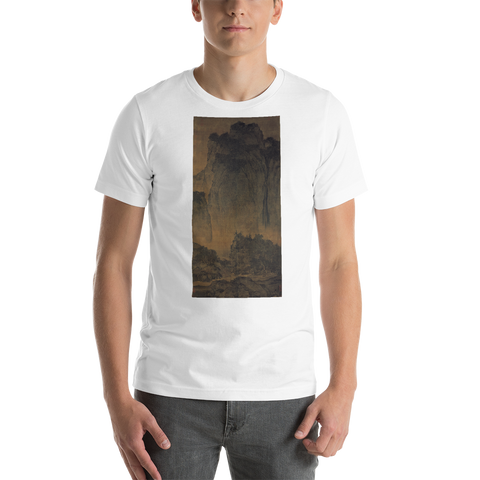 Travelers-Among-Mountains-And-Streams-Cotton-Art-Tee-For-Men