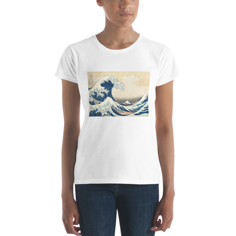 The-Great-Wave-Off-Kanagawa-Cotton-Art-Tee-For-Women
