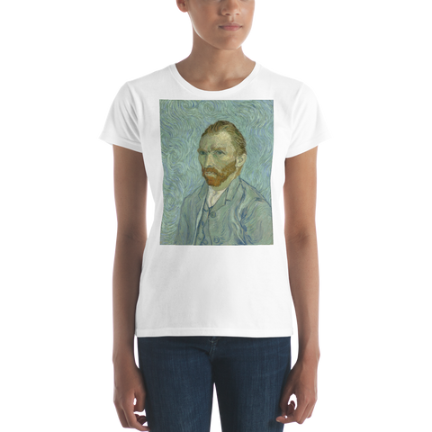 Van-Gogh-Self-Portrait-Cotton-Art-Tee-For-Women