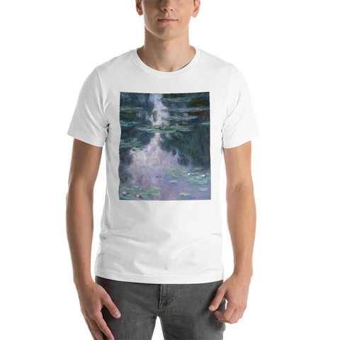 Water-Lilies-Cotton-Art-Tee-For-Men