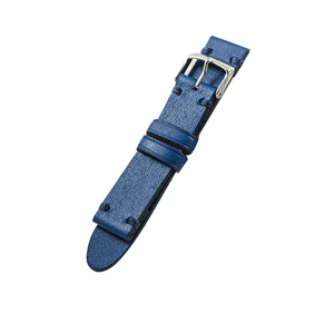 Beik & Moll Silver Case White Dial + Navy Blue Leather Strap +Free Silver Mesh Strap