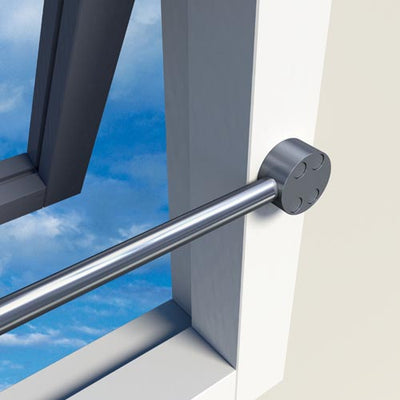 SecuBar Barrierestang Twist Combi, Set, RVS, Op de dag, 990 mm