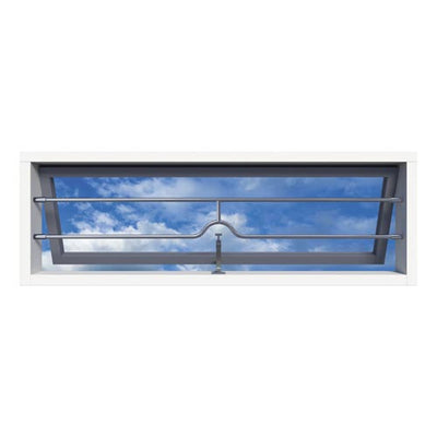 SecuBar Barrierestang H-Bar Combi, Set, RVS, Op de dag, 1490x181 mm