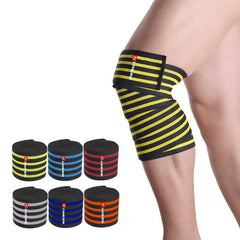 200*8.5 CM Weight Lifting Nylon Elastic Knee Bandage