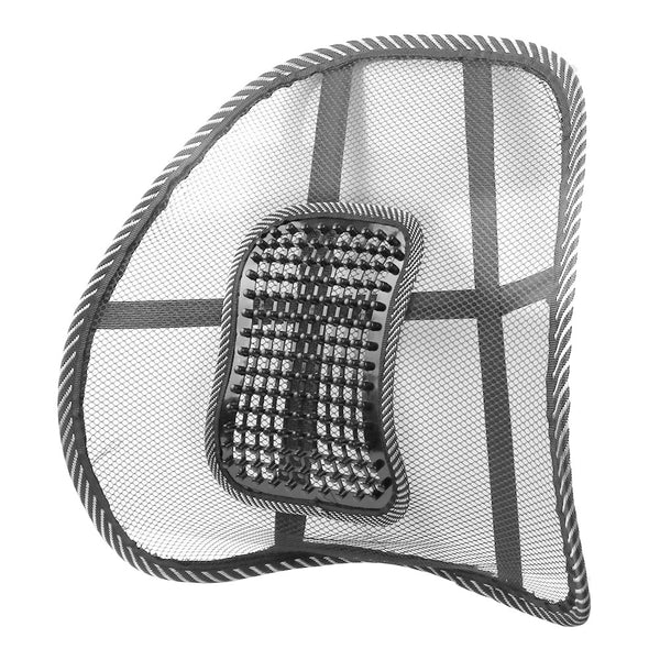 Mesh Back Brace Lumbar Cushion Support with Massage for Office, Home or Car Seat