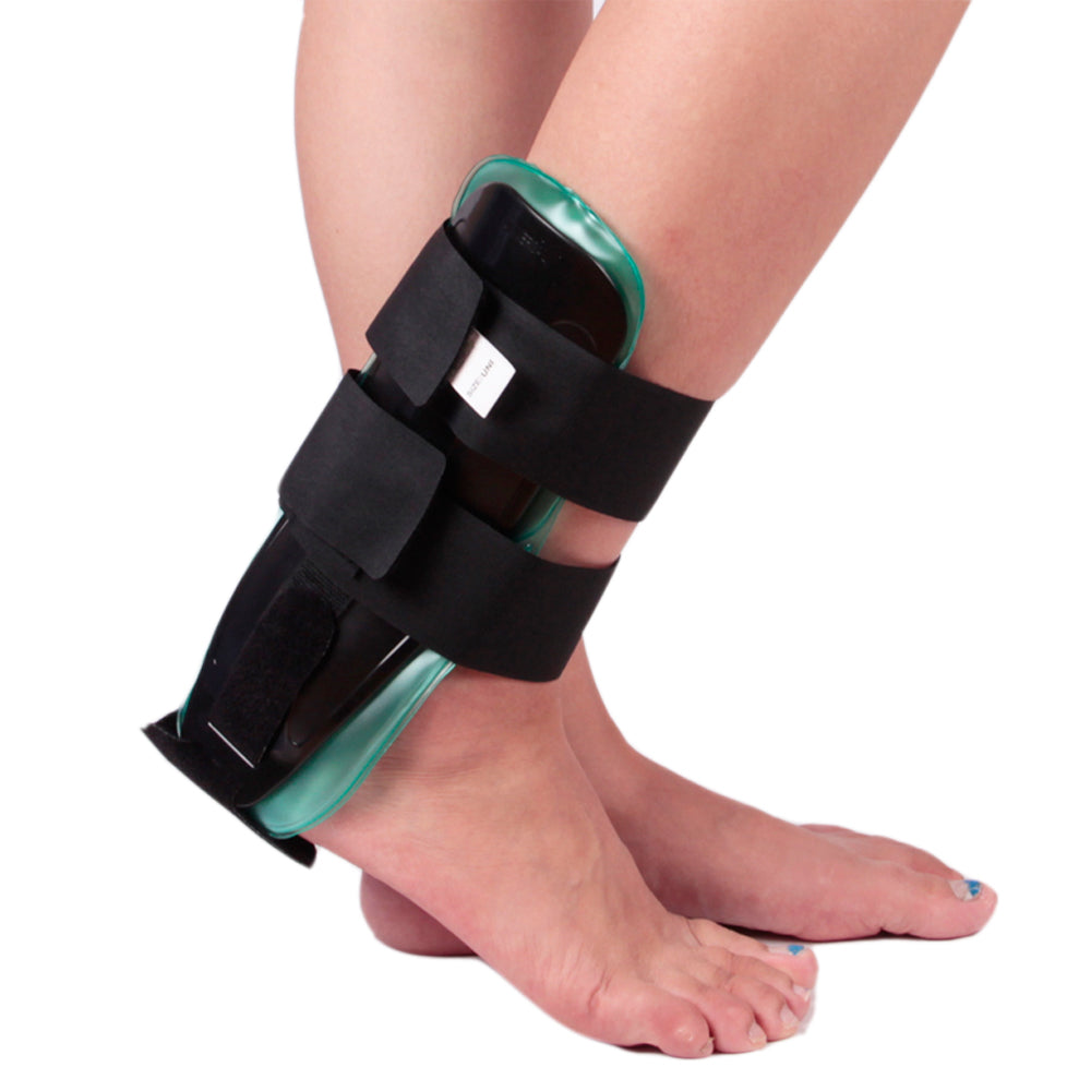 Air/Gel Ankle Brace For Ankle Sprain With Hot Compress And Ice Compress Gel