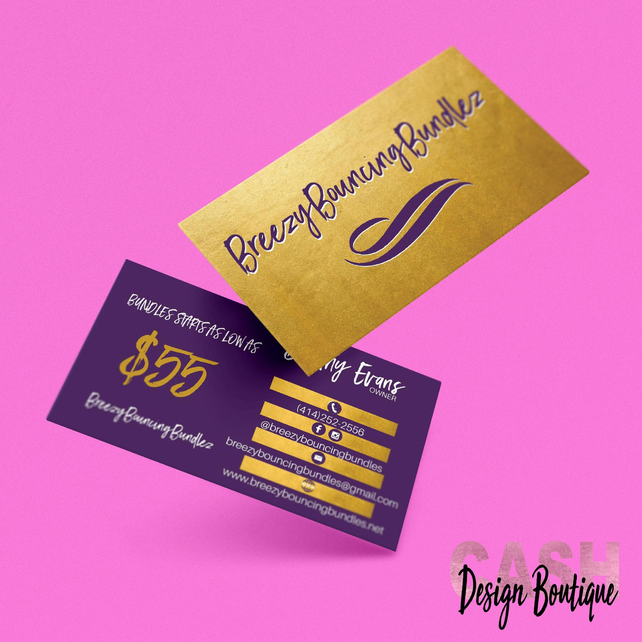 Custom Business Card Design & Print – Cash Design Boutique