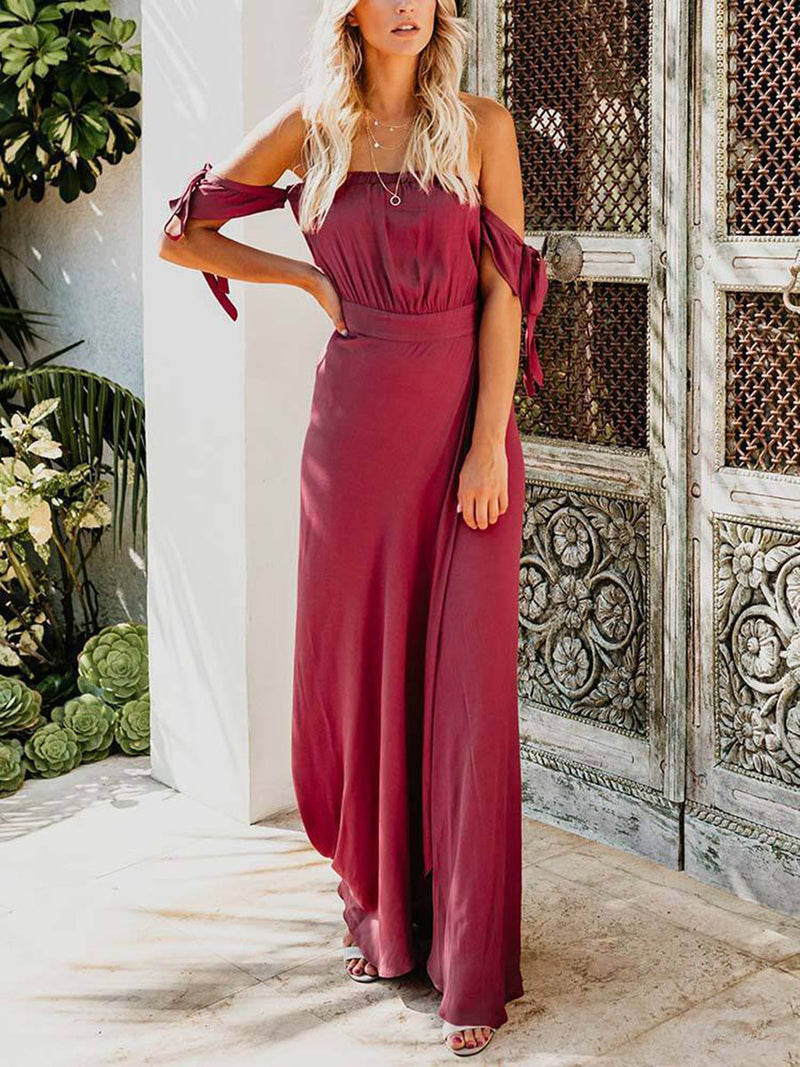 Infinity Off The Shoulder Maxi Dress
