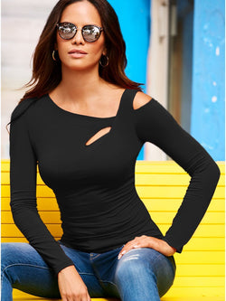 Ladies Fashion Beach Long Sleeve Top