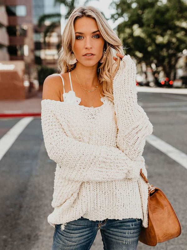 Warm My Soul Knit Off Shoulder Sweater