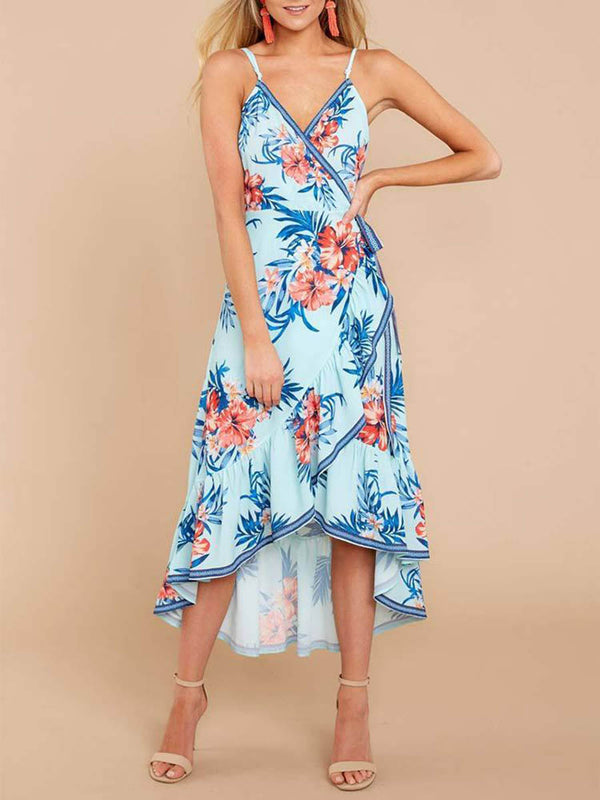 Long Way Home Tropical Print Dress