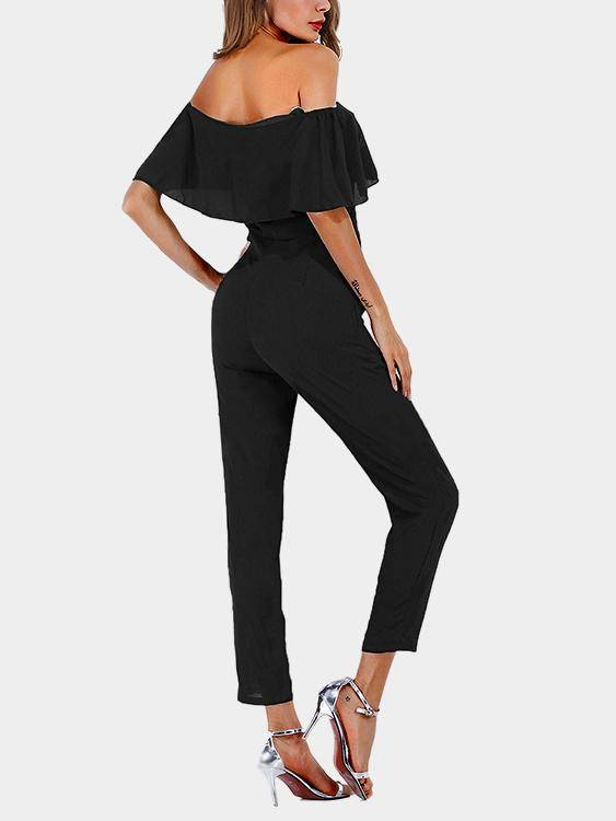 Tiered Off Shoulder Jumpsuit