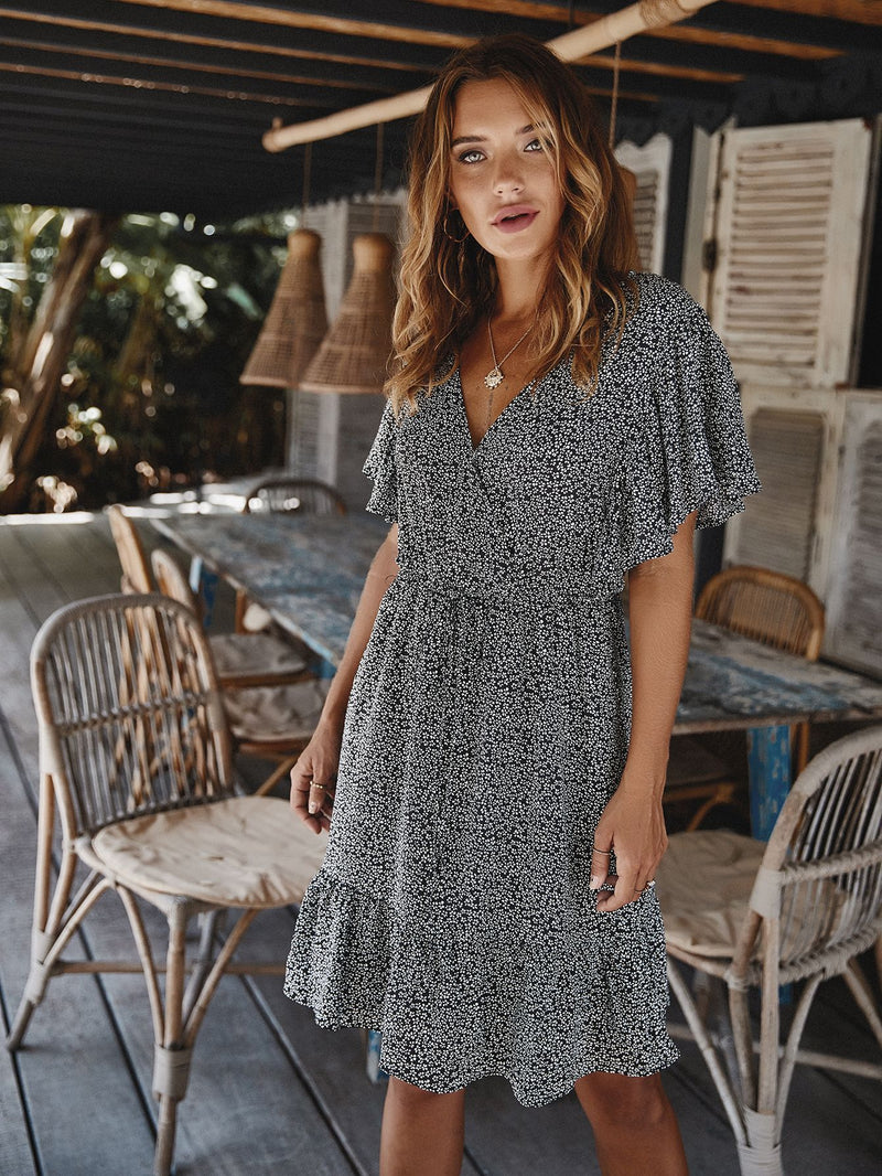 Long Sleeve Casual Loose Swing T-Shirt Dress