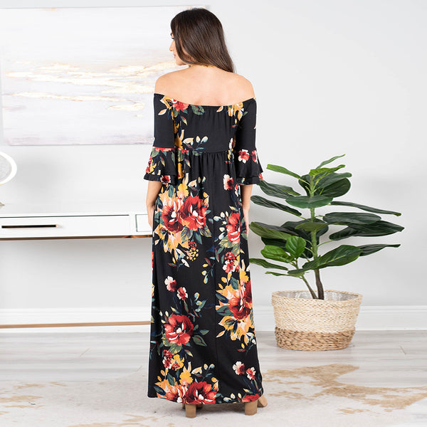 Floral Printed Long Summer Dresses