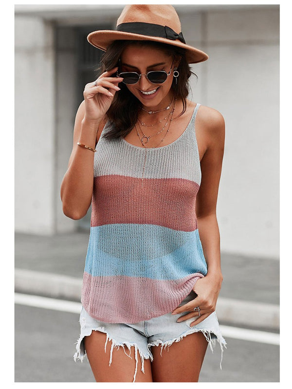 Summer Strap Knit Tank Tops Strap